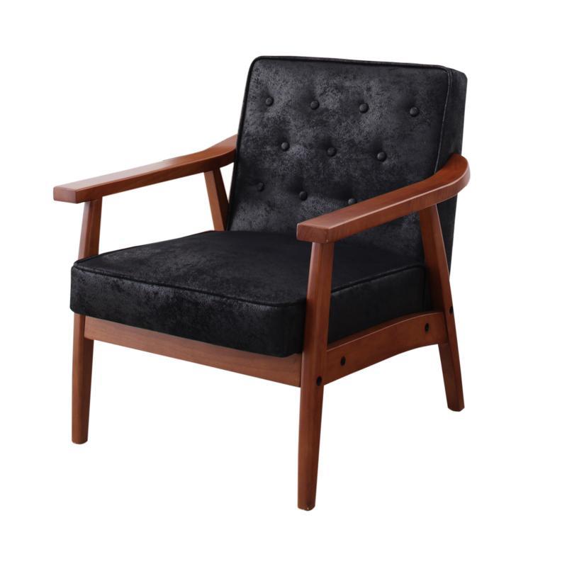 【送料無料】 ソファ アームチェア 1人掛け 幅約64cm 一人掛け 肘掛け椅子 肘掛椅子 木肘ヴィンテージソファ ベドフォード いす イス 椅子 チェア チェアー 木製フレーム 一人用 1人用ソファ 一人がけソファ 1人がけソファ 一人掛けソファ 一人暮らし レトロ 天然木