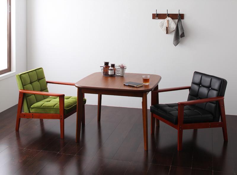 【送料無料】 ダイニング テーブル セット 3点セット Bタイプ(テーブル幅90cm+1Pソファ×2) 2人用 ウォールナット ダイニング3点セット 食卓3点セット 椅子 イス ダイニングソファセット ダーニー ダイニングセット ソファ 木製テーブル モダン 北欧 ひとり暮らし おしゃれ