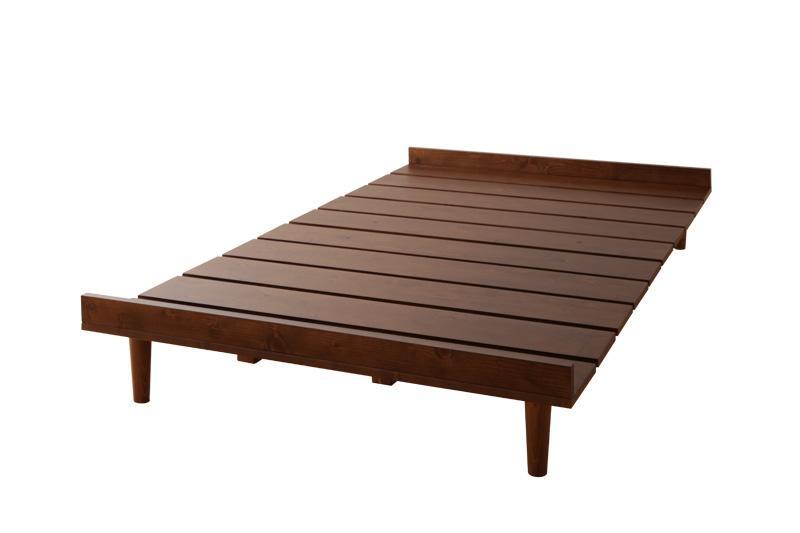 送料無料 北欧デザインベッド ベット すのこ仕様 木製ベッド カレヴァ【フレームのみ】セミダブル 家具通販 新生活 敬老の日