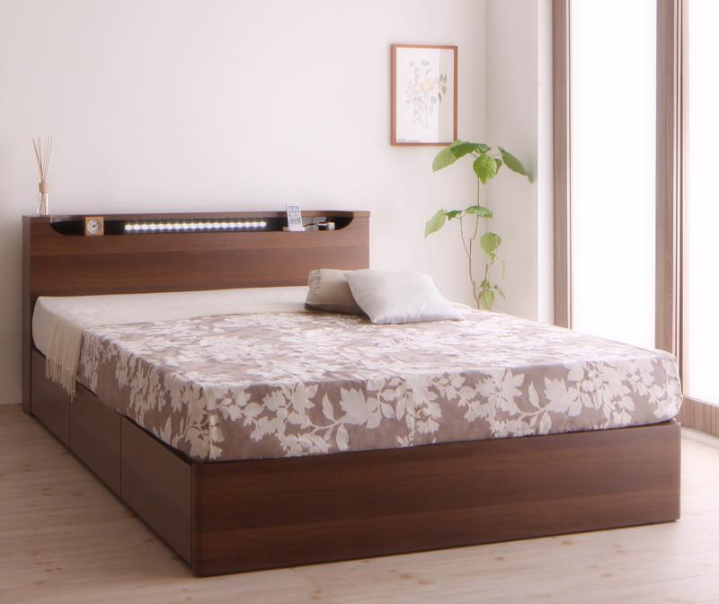 お気に入りの 送料無料 木製ベッド ベッド 収納付き ライト付き フレーム マットレス付き 北欧 ダブルベッド 大容量 収納付きベッド ダブルサイズ 木製ベッド ベッド下収納 引き出し収納付き 収納ベッド シャトー【ボンネルコイルマットレス:ハード付き】 ヘッドボード 宮付き 棚付き 木目 北欧 民泊 ライト付き, にいがたけん:471fdbff --- zhungdratshang.org