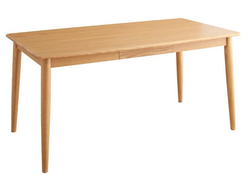 【送料無料】 天板の丸みは小さなお子様がいらっしゃるご家庭でも 安心安全です テーブル ダイニングテーブル 木製テーブル 食卓テーブル 天然木タモ無垢材ダイニング -ユニカ/テーブル単品(幅150cm)- リビングダイニング ナチュラル ブラウン 新生活 敬老の日