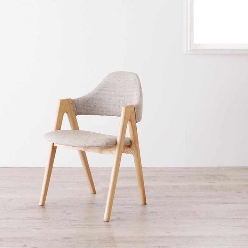 送料無料 ダイニングチェア 2脚セット 完成品 デザイナーズチェア チェア チェアー (2脚組) 完成 ダイニングチェアー 北欧デザイン オレロ イス 椅子 いす ハーフアーム ファブリック 木製 天然木 ひとり暮らし ワンルーム シンプル おしゃれ 北欧 かわいい