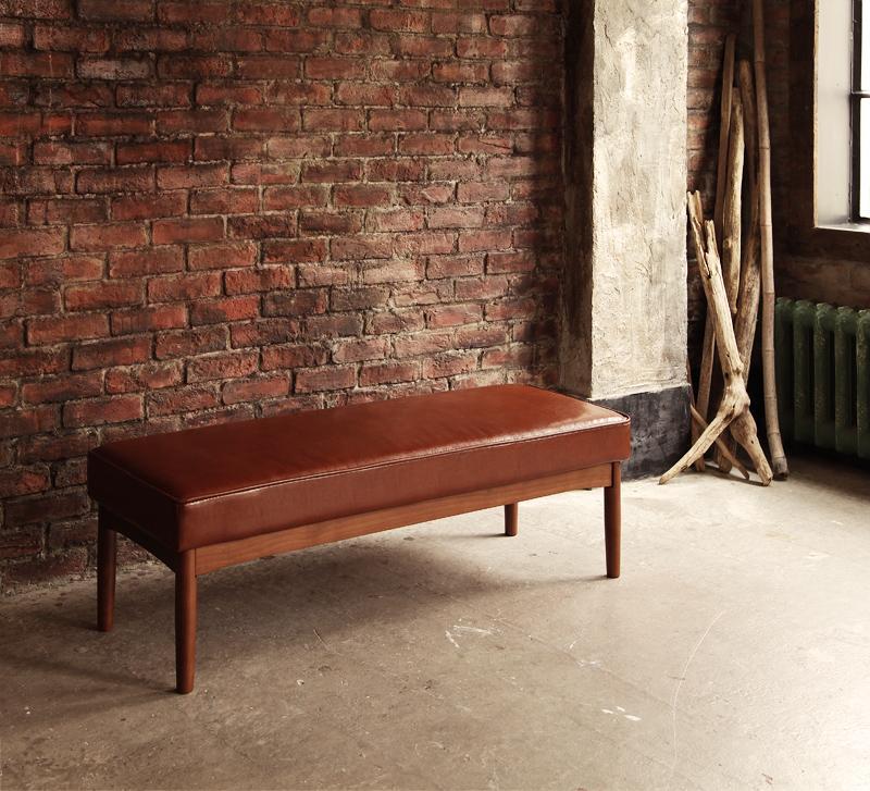 送料無料 ダイニングベンチ 2P 2人掛け 幅120cm レザー アメリカンヴィンテージ リビングダイニング 66 ダブルシックス ベンチチェアー 椅子 いす 食卓椅子 ハイバック 北欧 おしゃれ