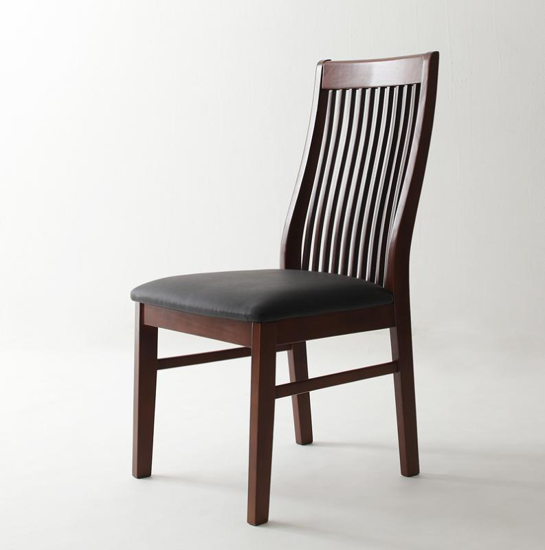 送料無料 ダイニングチェア (2脚組) ハイバックチェア モダンデザインダイニング ビストロ エム チェア チェアー ハイバックチェアー ダイニングチェアー 椅子 イス いす 食卓椅子 木製 合皮 レザー 高級感 おしゃれ