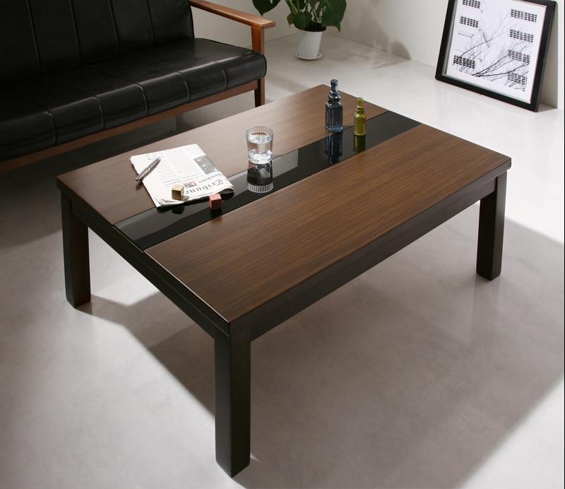 アーバンモダンデザインこたつ GWILT FK エフケー こたつテーブル単品 長方形(75×105cm)