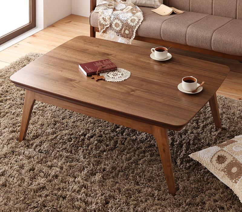 北欧デザイン!ウォールナットこたつテーブル 「Lumikki」