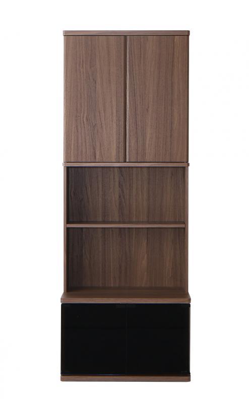 【送料無料】 キャビネット単品 ガイド Guide 木製 壁面 幅59 奥行き29 高さ162cm ブラウン