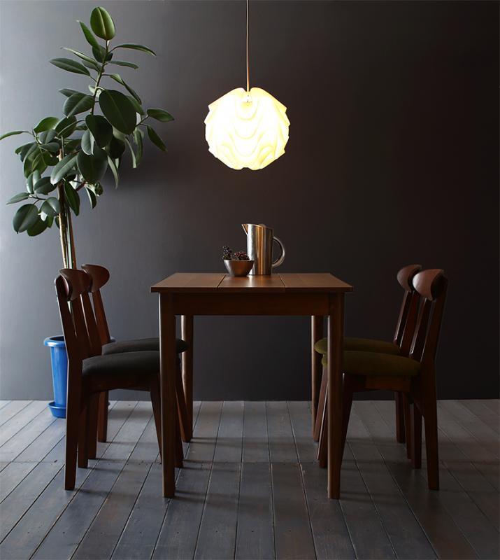 【送料無料】 ダイニングセット 5点セット(テーブル ブラウン W115+チェア4脚) カフェ ヴィンテージ ダイニング Mumford マムフォード 木製 食卓 4人掛け ダークグレー グリーン