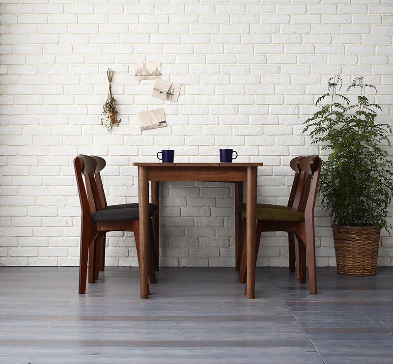 【送料無料】 ダイニングセット 5点セット(テーブル ブラック×ブラウン W115+チェア4脚) カフェ ヴィンテージ ダイニング Mumford マムフォード 木製 食卓 4人掛け ダークグレー グリーン