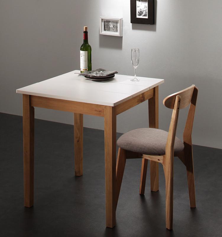 【送料無料】 ダイニング 2点セット (ダイニングテーブル ホワイト×ナチュラル 幅68 + チェア 1脚) モダン Worth ワース 天然木 木製 食卓テーブル 1人掛け アイボリー ダークグレー