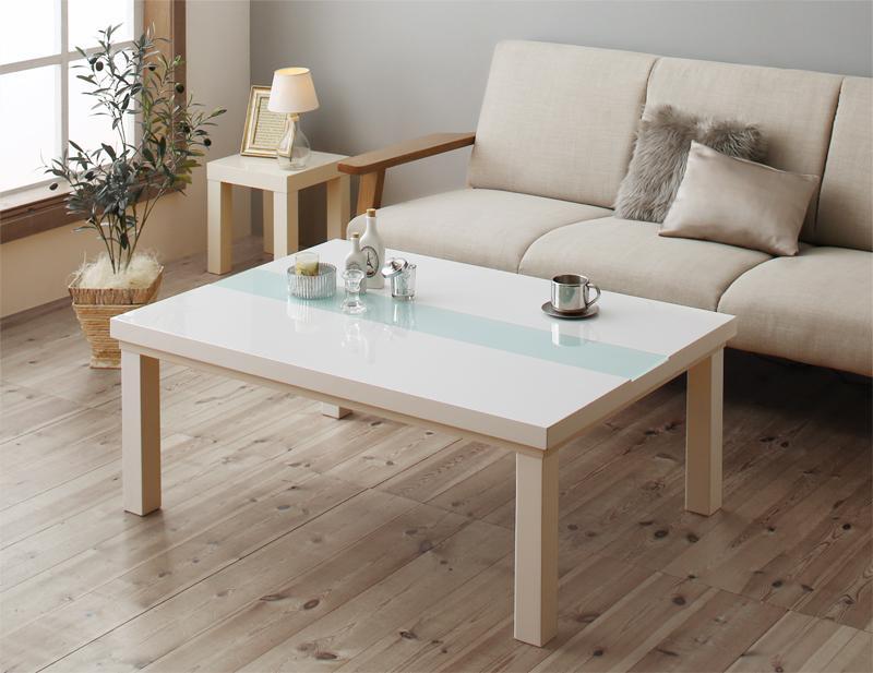 エレガントモダンデザインこたつ Glowell FK グローウェル エフケー こたつテーブル単品 鏡面仕上 長方形(75×105cm)