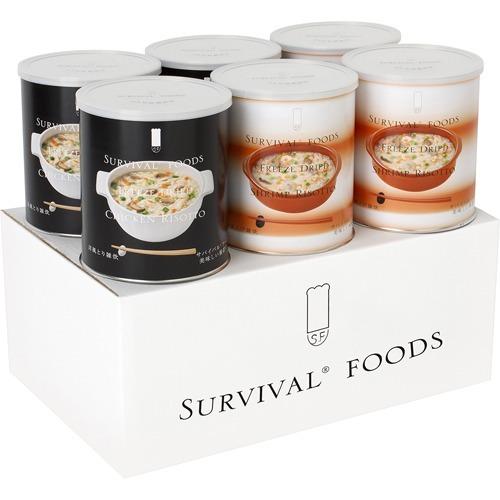 サバイバルフーズ 小缶 バラエティセット 洋風雑炊セット(6缶入(15食相当品))
