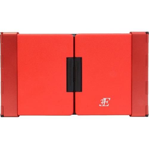 3E BLuetooth Keyboard TENPLUS 3つ折りタイプ レッド 3E-BKY7-BR(1コ入)