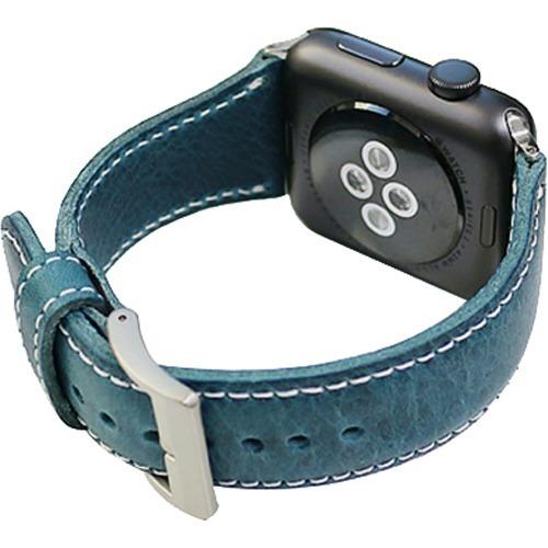 SLG Apple Watch 42mm用バンド バダラッシワックスレザー ブルー SD11726AW(1コ入)