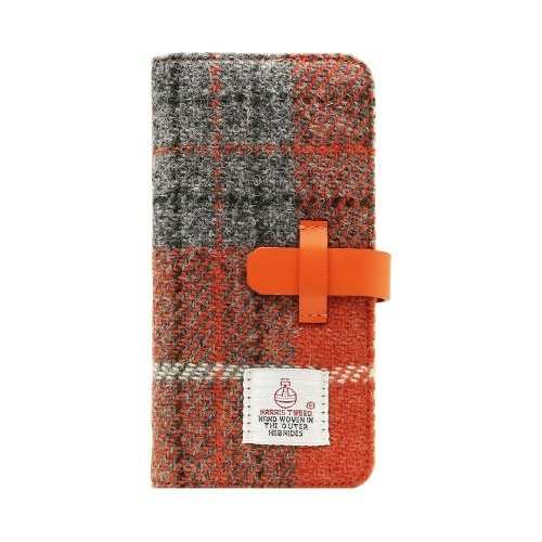 エスエルジーデザイン iPhone6s/6 ハリスツイードダイアリー オレンジ*グレー(1コ入)