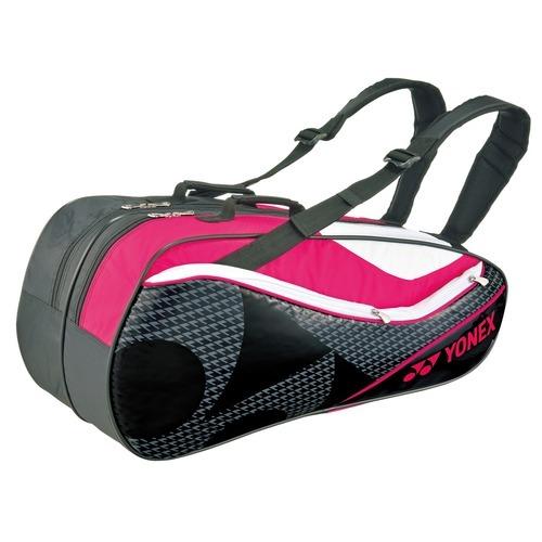 ヨネックス ラケットバッグ6 リュック付 テニス6本用 ブラック*ピンク BAG1612R(1コ入)