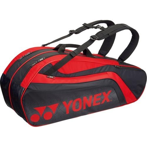 ヨネックス ラケットバック6 リュック付 テニス6本用 ブラック*レッド BAG1812R 187(1コ入)
