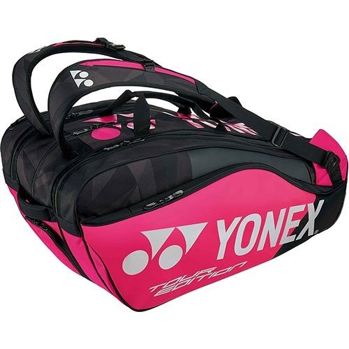 ヨネックス ラケットバッグ9 リュック付 テニス9本用 ブラック*ピンク BAG1802N 181(1コ入)