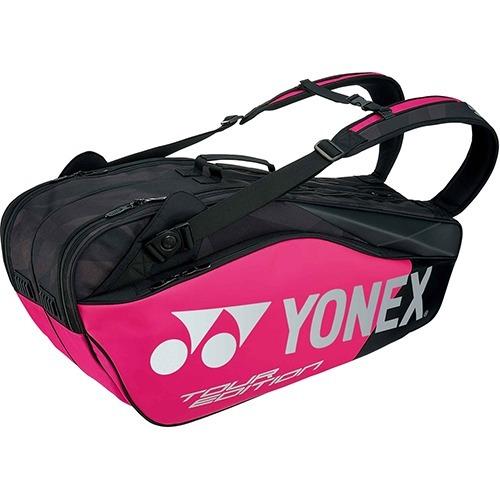 ヨネックス ラケットバッグ6 リュック付 テニス6本用 ブラック*ピンク BAG1802R 181(1コ入)
