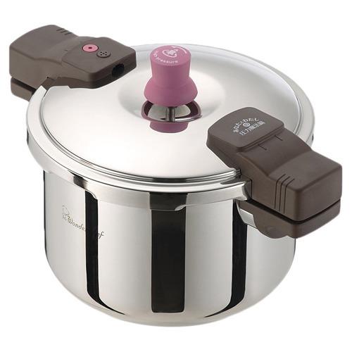 ワンダーシェフ あなたと私の圧力魔法鍋 両手圧力鍋 5.5L(1コ入)