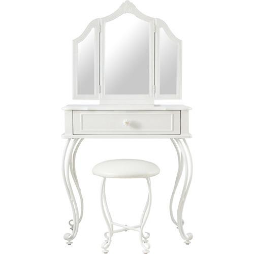 リルデココ パール 三面鏡ドレッサーセット(1台)