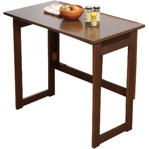 木製折り畳みテーブル 高さ55cm ブラウン 0351410(1台)