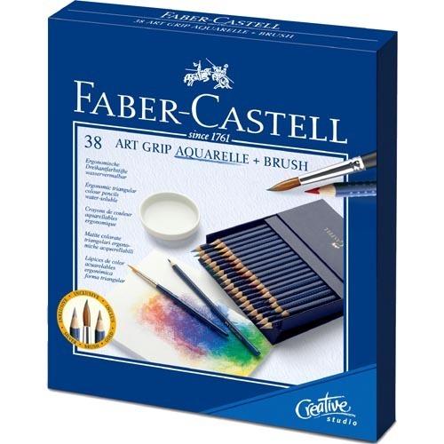 ファーバーカステル アートグリップ 水彩色鉛筆 38色 スタジオボックス(1セット)