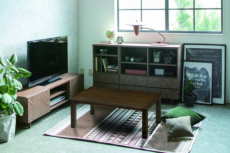シンプルなデザインと高さ調節機能が特徴的なこたつテーブル  コタツ/120タイジュ