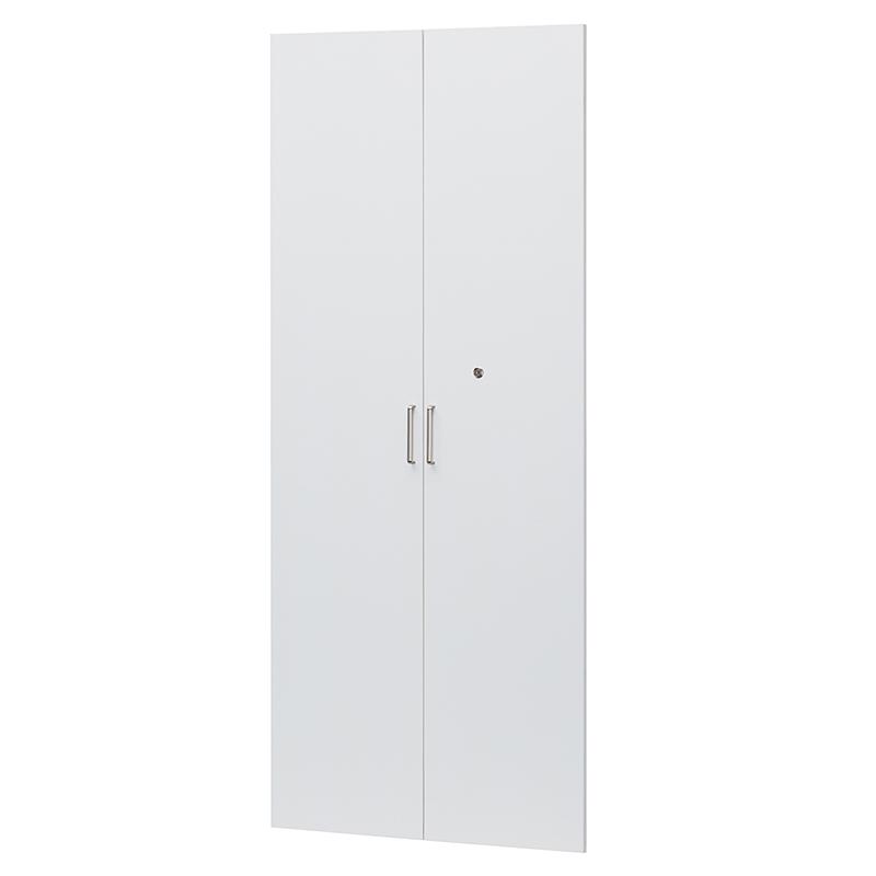 送料無料 オフィスコ2専用 扉 扉のみ 鍵付き 耐震ラッチ付き オプション扉 ホワイト 白