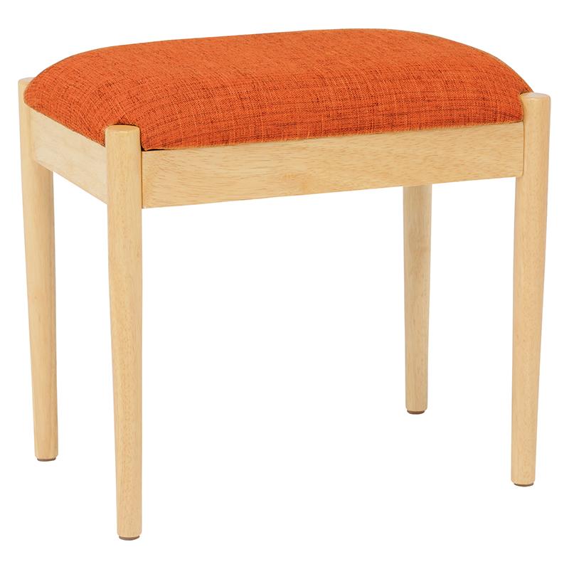 送料無料 スツール 完成品 キッズチェア チェアー ファブリック 椅子 木製 補助椅子 ちょい掛け用 荷物置き オットマン 玄関椅子 おしゃれ いす イス コンパクト 省スペース 腰掛椅子 背もたれなし 北欧 シンプル オレンジ VH-7949OR
