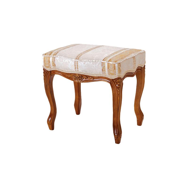 送料無料 スツール アンティーク オットマン 猫脚 猫 脚 フィオーレ 椅子 木製 おしゃれ いす イス ドレッサー 玄関腰掛け 足置き 1人掛け エレガント フレンチ ヨーロピアン クラシック 高級感 ブラウン SA-C-1470-B4