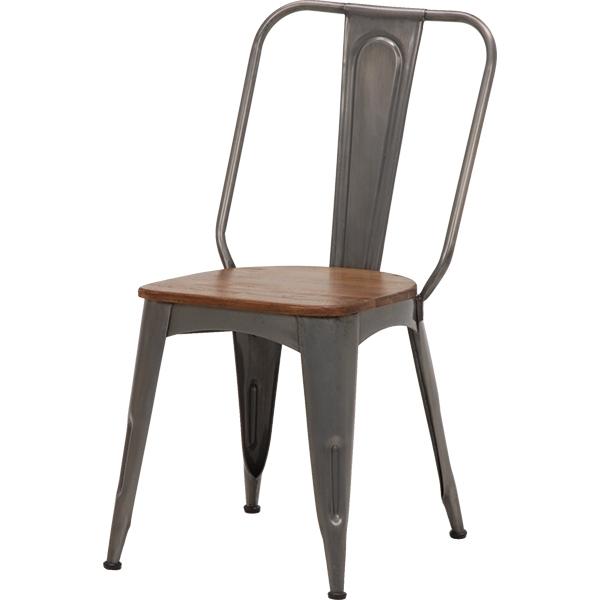 送料無料 ダイニングチェア 2脚組 1人 座面高45cm デザインチェアー 2脚セット ダイニングチェアー おしゃれ 木製 アイアン リベルタシリーズ 椅子 チェア イス チェアー 2脚組 チェアー RC-2901