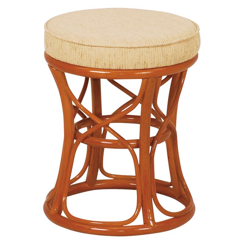 送料無料 6個セット 籐スツール 丸型 丸椅子 コンパクト イス 椅子 いす チェアー 木製 おしゃれ いす イス 腰掛け ブラウン 茶 手編み 補助椅子 ちょい掛け用 荷物置き オットマン 玄関椅子 腰掛け ラタン ナチュラル RH-772NA