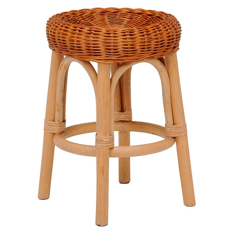 送料無料 4個セット 籐スツール 丸型 丸椅子 コンパクト イス 椅子 いす チェアー 木製 おしゃれ いす イス 腰掛け ブラウン 茶 手編み 補助椅子 ちょい掛け用 荷物置き オットマン 玄関椅子 腰掛け ラタン ナチュラル RH-985NA