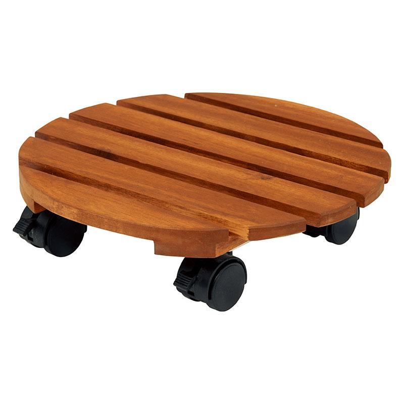 送料無料 6台入り プランター台 花台 アカシア ガーデン キャスタープランター鉢 スタンド 木製 鉢置き キャスター付き VGS-7384