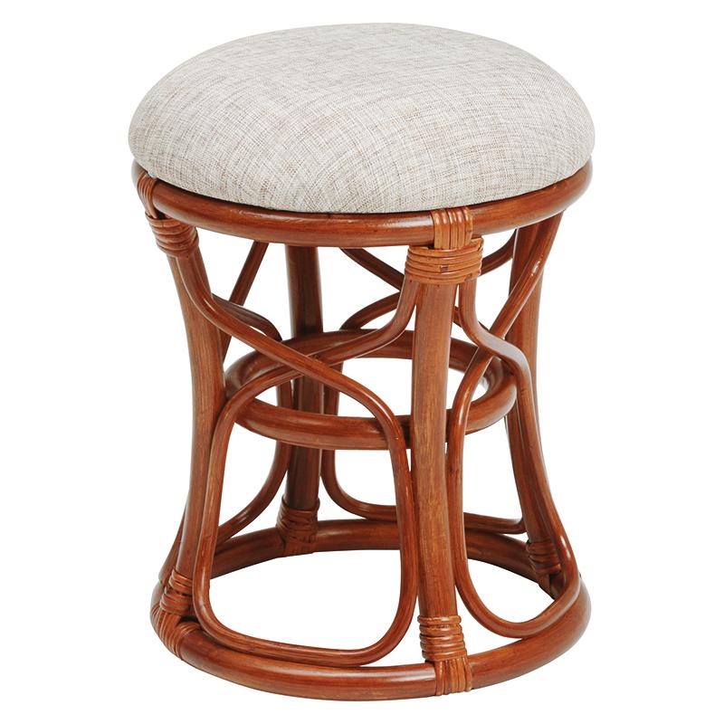 送料無料 6個セット 籐スツール 丸型 丸椅子 コンパクト イス 椅子 いす チェアー 木製 おしゃれ いす イス 腰掛け ブラウン 茶 RH-169BR