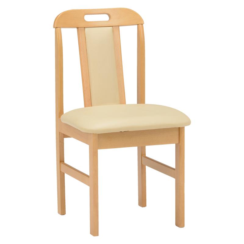 送料無料 ダイニングチェアー【2個セット】 木製 ダイニングチェア 食卓椅子 椅子 イス ナチュラル 2脚セット いす【KC-7580NA】
