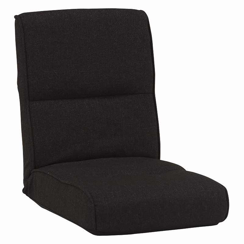 送料無料 リクライニング座椅子【5個セット】 ポケットコイル シンプル チェア ブラック フロアチェア【LZ-4691BK】