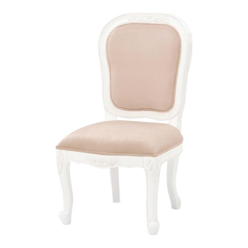 送料無料 ダイニングチェアー ヨーロッパ アンティーク風チェア 猫脚 ネコ脚 女の子 姫系 かわいい おしゃれ ダイニングチェア 椅子 チェア 北欧 食卓椅子 プリンセス エレガント クラシック 白 白家具 ホワイト RC-1776AW-NBE