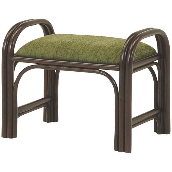 送料無料 立ち上がりラタンスツール【6個セット】 椅子 茶色 チェア ダークブラウン コンパクト【RH-688DBR】