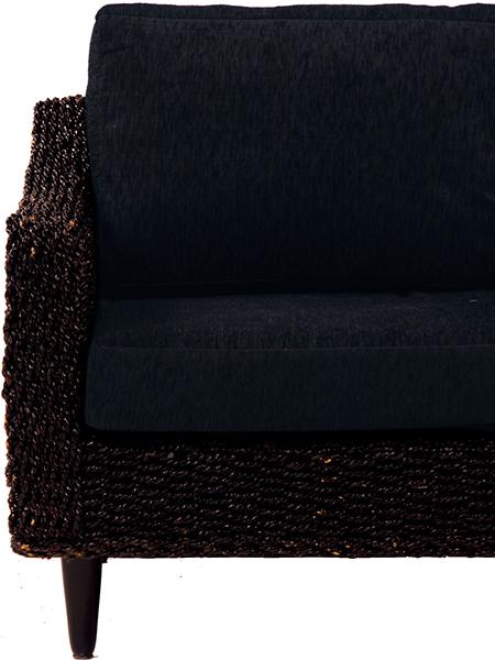 送料無料 グランツシリーズ クッションカバー(3人掛用) 3P ブラック 黒【RL-1430C-3C-BK】