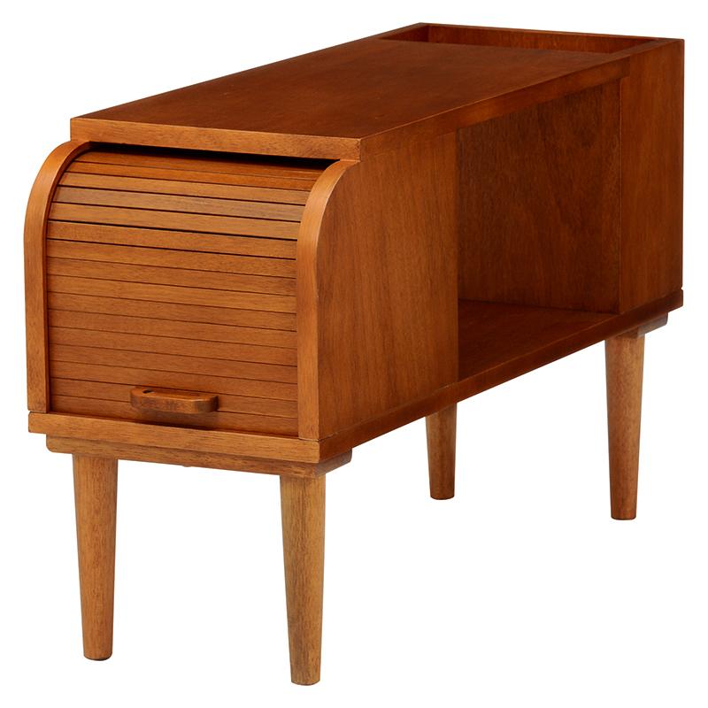 送料無料 木製サイドテーブル 椅子横 デスクサイド 机横 木の質感 書斎 おしゃれ カルマシリーズ サイドテーブル 大人 和風【RT-1397】