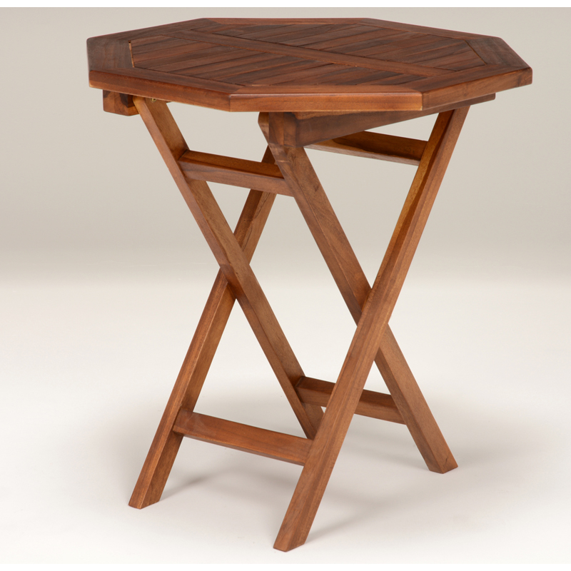 送料無料 ガーデンテーブル 八角テーブル 幅70cm 木製 チーク材 折り畳み 庭 アウトドア ガーデンファニチャー 折りたたみ カフェテーブル バルコニー ベランダ テラス ウッドデッキ 庭 屋外 折りたたみ式 エクステリア ピクニック おしゃれ RT-1595TK