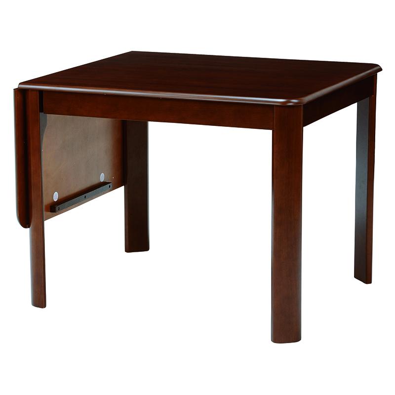 送料無料 ダイニングテーブル テーブル ダークブラウン 茶色 デスク 机 丸角 バタフライ式【VDT-7685DBR】