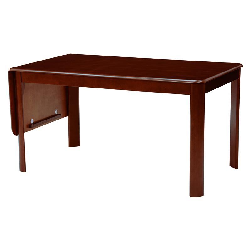 送料無料 ダイニングテーブル テーブル バタフライ式 ダークブラウン 丸角 デスク 机 茶色【VDT-7686DBR】