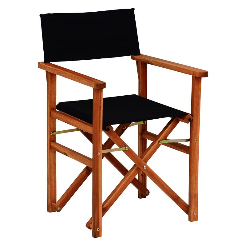 送料無料 チェア 2個セット ディレクターズ チェア ディレクターチェア おしゃれ 1人掛け 一人用 木製 折りたたみチェア チェアー 折り畳み 折畳み 折りたたみ椅子 いす イス ガーデン 肘掛け 屋外 庭 ベランダ テラス バルコニー コンパクトブラック 黒 VGC-7354BK-2