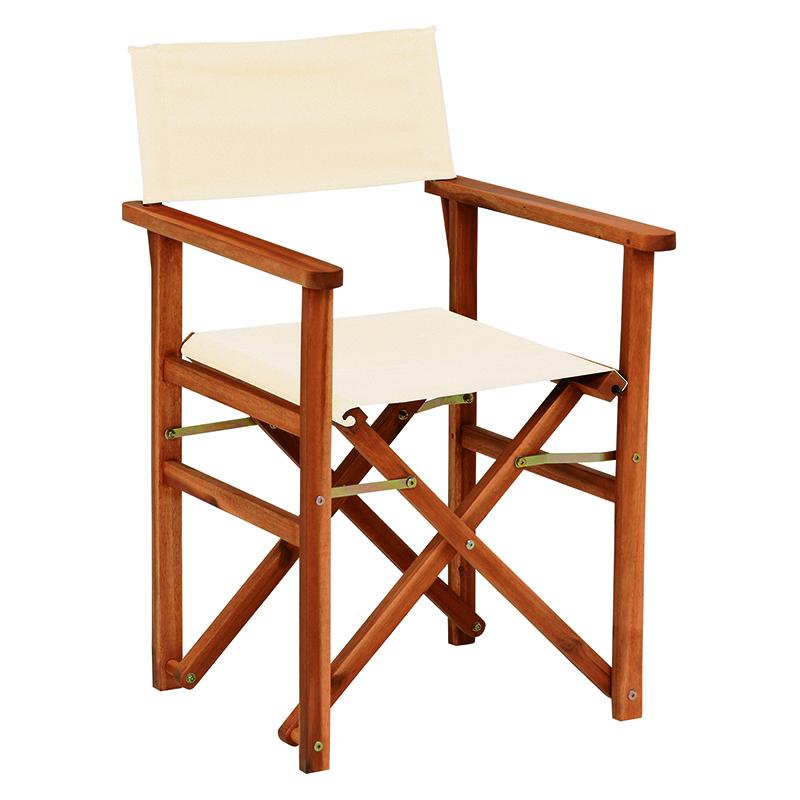 送料無料 チェア 2個セット ディレクターズ チェア ディレクターチェア おしゃれ 1人掛け 一人用 木製 折りたたみチェア チェアー 折り畳み 折畳み 折りたたみ椅子 いす イス ガーデン 肘掛け 屋外 庭 ベランダ テラス バルコニー コンパクトアイボリー VGC-7354IV-2