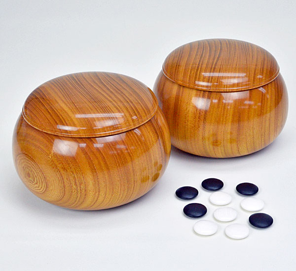 碁石 日向特製蛤碁石 30号 実用 (厚み8.0mm) ※木製欅碁笥付き