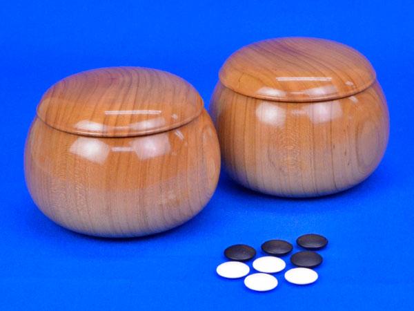 碁石 日向特製蛤碁石 28号 実用 (厚み7.5mm) ※木製桜碁笥付き