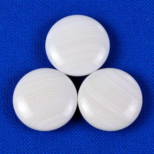 碁石 日向特製蛤碁石 28号 雪印 (厚み7.5mm)